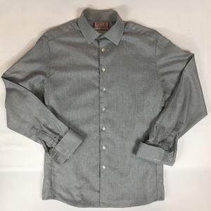 Thomas Pink Men's 16 1/2, 42cm Shirt, Gray Check